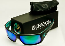 DRAGON CINCH SUNGLASSES Jet Black-Teal-Green Ion *AUTHENTIC*