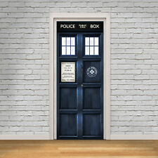 Tardis Door Wrap Doctor Who Self Adhesive Door Decal Vinyl Sticker