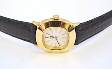 W515-BUCHERER 18K GOLD WOMEN'S WRIST WATCH MECHANICAL MOVEMENT, NEW LEATHER BAND