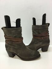 Frye Jane Strappy Short Short Boot #76381 Fatigue Size 7B