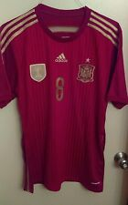 2010 World Cup Adidas Spain soccer jersey Xavi #8 mens Large