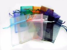 "12 Pcs 3 3/4'' x 7"" Organza Pouch Bags Mixed Colors Pre - Packaged"
