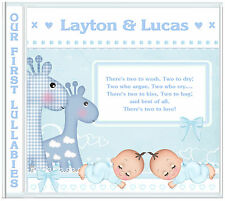 Newborn Baby Gift, Twin Boys/New Baby Personalised Lullaby CD - Gifts for Twins