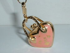 14K YELLOW GOLD 3D DESIGNER ROSATO HEART PURSE HANDBAG CHARM PENDANT