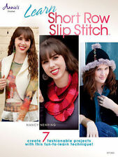 Learn Short Row Slip Stitch Crochet Patterns How To Cowl Vest Hat Glove Book NEW