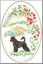 Portuguese Water Dog Rainbow Bridge Card Embroidered by Dogmania