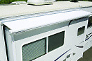 """RV CAMPER SLIDEOUT WHITE FACTORY FABRIC A&E fits 110""""/186"""" X 48"""" With CORDS NEW"""