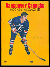 1970 FEB 6 VANCOUVER CANUCKS HOCKEY MAGAZINE WHL PROGRAM VS PORTLAND BUCKAROOS