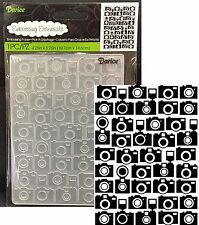 CAMERA Embossing Folders DARICE 1219-232 All Occasion Cuttlebug Compatible