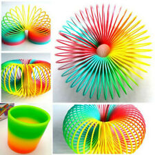 Popular Colorful Rainbow Plastic Magic Slinky Children Classic Development Toy