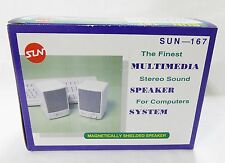 speakers Magnetically shielded stereo sound multimedia computers system