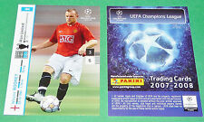 WAYNE ROONEY MANCHESTER UNITED FOOTBALL CARDS PANINI CHAMPIONS LEAGUE 2007-2008