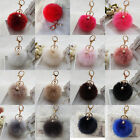 New Rabbit Fur Ball Fluffy Car Keychain Pendant Handbag Charm Keyring 8cm Hot
