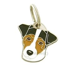 Personalised, Stainless Steel, Pet ID Tag MjavHov, Russell terrier, tricolour