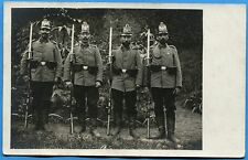 CPA PHOTO: Quatre soldats allemands en shako / Guerre 14-18