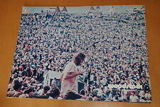 WOODSTOCK 1970 2 VINTAGE GIANT LOBBY CARD ORIGINAL ARGENTIC LOT