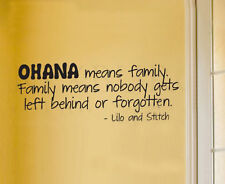 B3 Wall Sticker Decal Quote Vinyl Art Lettering Lilo and Stitch