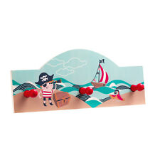 Pirate Wall Hanger 3 Peg MDF For Home Children Room Storage Solutions Bedroom