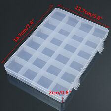 24 Compartments Plastic Box Case Jewelry Bead Storage Craft Organizer Exquisite