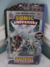 SONIC THE HEDGEHOG~COMIC BOOK PACK~SHADOW & SILVER~EXCLUSIVE PAINT~JAZWARES~NIP