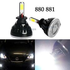 2Pcs 40W 4000LM Bright 880 885 893 COB LED Bulbs 6000K White Fog Lights Lamps