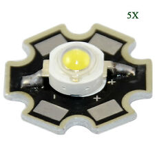 5Pcs 1W Super Bright White High Power LED Chips Beads 12000-15000K For Aquarium