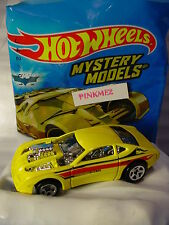 2017 Mystery Models #10 OVERBORED 454∞Yellow/Black/Chrome;5sp∞Sticker∞Hot Wheels