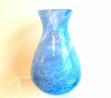 Vintage CAITHNESS GLASS Light Blue-LILAC MOTTLED MARBLED Flecks Swirls BOXED