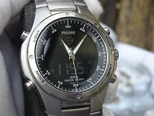 Pulsar by Seiko Gents ana/digi wrist watch New battery fitted PS5 NX14-X003