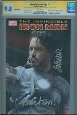 2008 Iron Man #1 CGC SS 9.8 Variant 3x Signed Movie photo cover - Robert Downey