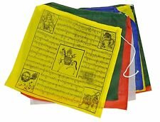 "Y05 Buddhist Tara Buddha Windhorse Cotton Prayer Flags 11"" Nepal Tibet 100 Rolls"