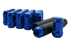 20pc Blue Spline Tuner Lug Nuts 1/2-20 Threads Works on Aftermarket Wheels
