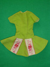Barbie doll size Fashion ~Vintage Homemade Short Flared Skirt Dress ~No doll