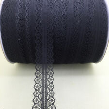 DIY ~10 Yards Bilateral Handicrafts Embroidered Net Lace Trim Ribbon Black