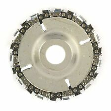 Grinder Disc Chain 4in Fine Cut 22 Tooth 7/8in Arbor Fits 4 1/2in Angle Grinders