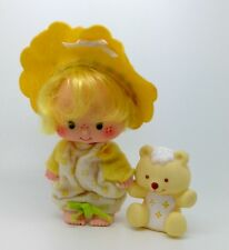 ⭐ ⭐ Vintage Strawberry Shortcake mantequilla Cookie Muñeca Con Jalea Oso adorable!