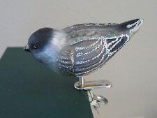 Chickadee clip Old World Christmas glass ornament