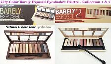 2 PCs City Color Barely Eyeshadow Palettes- Natural & Nude Tone Color Eye Shadow