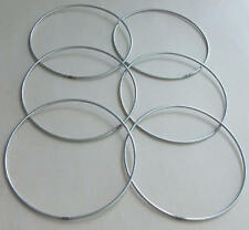 "6 x 3"" Strong Metal Dreamcatcher/Macrame Craft Hoop/Ring & Free Waxed Cord"