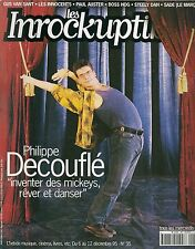 REVUE--LES INROCKUPTIBLES N° 35--PHILIPPE DECOUFLE - INVENTER DES MICKEYS REVER