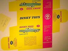 REPLIQUE BOITE CADILLAC 62 1961 / DINKY TOYS 1962/67