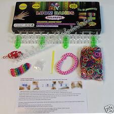 Telar Bandas Kit 600 Telar Bandas De Goma Bandas Pulseras Diy Rainbow kit de elaboración de nuevos