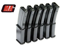 MAG 100rds Airsoft Toy Magazine For Marui Std MP7 MP7A1 AEG Black 6PCS MAG-023