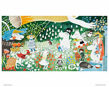 Moomin Poster Party nella Moomin Valley 24 x 30 cm