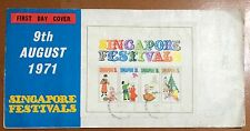 Singapore cover -1971 National Day Festival MS stamps priv FDC DESIGNER signatur