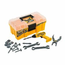 KIDS WORKMAN CONSTRUCTION TOOL BOX CHILDRENS BUILDERS PLAY DRILL BOYS ROLE PLAY