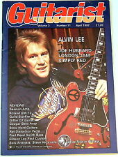 Vintage GUITARIST MAGAZINE April 1987 Alvin Lee Roland Guild RAT PRS Gibson Vai