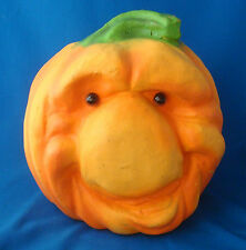 "9"" Empire Pumpkin Patch People ugly face jack o lantern 1998 polyurethane foam"