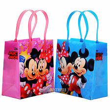 Mickey and Minnie Mouse Licensed Reusable Small Party Favor Goodie 12 Bags