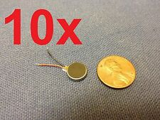 10 Pieces - Vibration Motor DC 3V Wired 10mm x 2mm Coin Cell Phone vibrating C11